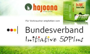 hajoona grüner Kaffee - der grüne Cafe empfohlen vom Bundesverband 50plus